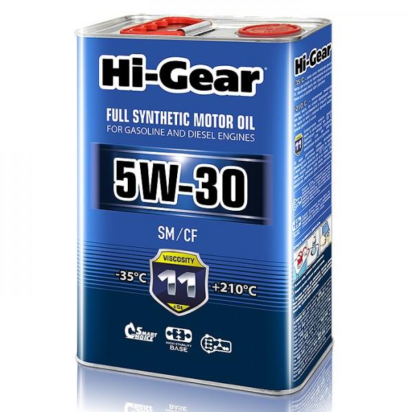 HG0034 5W-30 SM/CF  Масло моторное синтетическое. 4 литра.