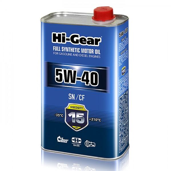 HG0540 Синтетическое моторное масло Hi-Gear 5W40 SN/CF, 1л