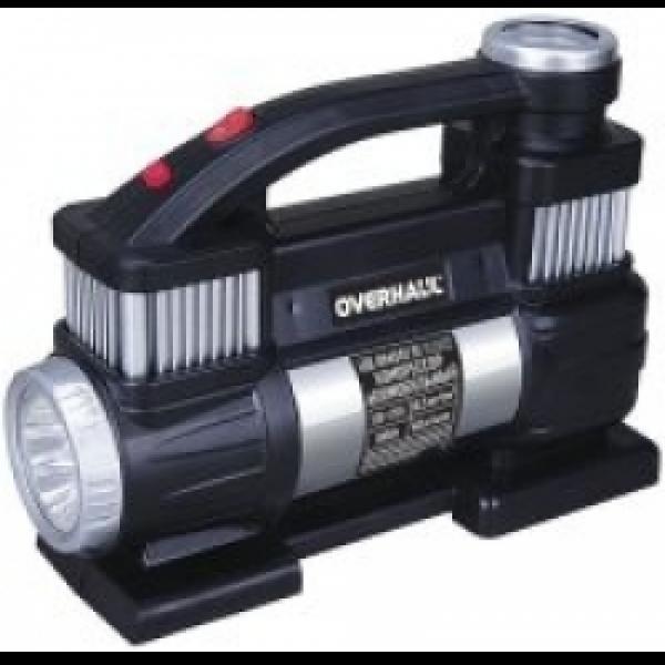 ОН6502  Компрессор автомобильный двухцилиндровый 12В, 25А,300Вт,40л/мин, 10,5 кгс/кв.см.    OVERHAUL
