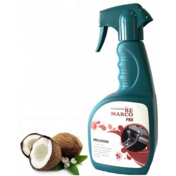 УТ-00000001Полироль для пластика и кожи, насыщенный аромат Кокоса.