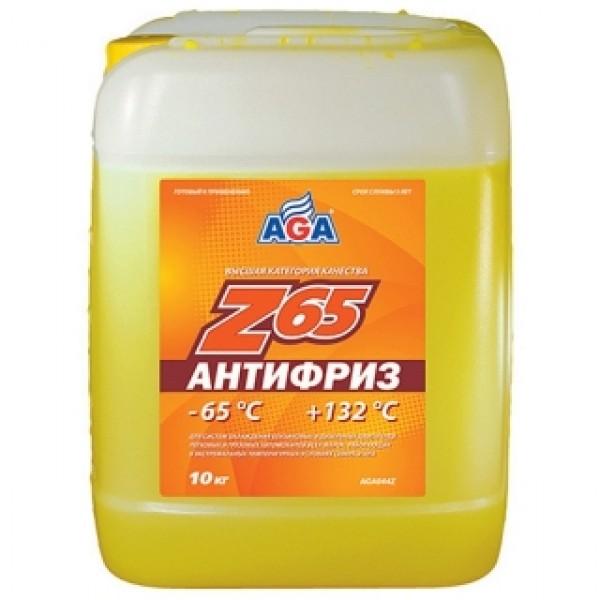 AGA044Z Антифриз, готовый к применению, ЖЕЛТЫЙ, -65С.